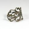 Основа для кольца с филигранью (цвет - античная бронза)