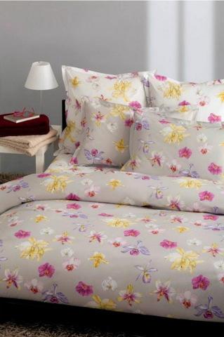 Постельное белье семейное Mirabello Fiori di Orchidea светло-серое