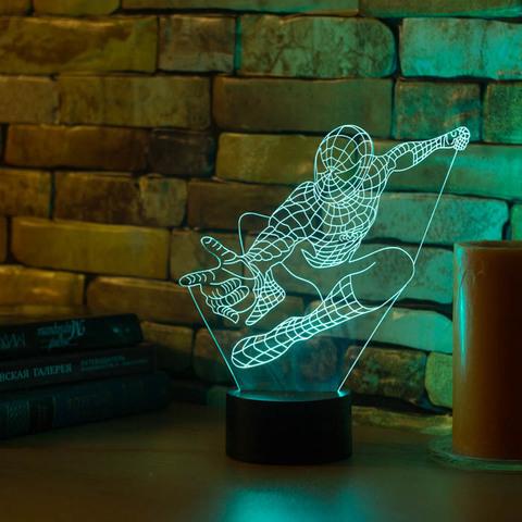 3D светильник Человек паук #2