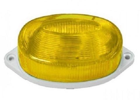 Строб лампа накладная желтая