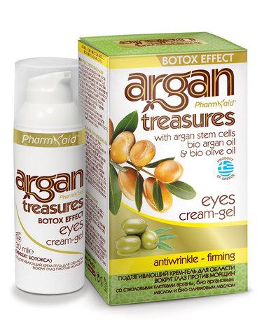 Крем-гель для глаз подтягивающий Ботокс-эффект с оливковым маслом и аргановым маслом