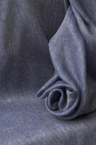 Льняная вуаль, цвет  ДЖИНС - МЕЛАНЖ
