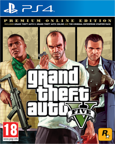 Sony PS4 Grand Theft Auto V. Premium Online Edition (русские субтитры)