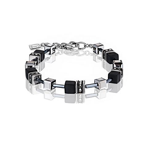 Браслет Coeur de Lion 4015/30-1317 цвет серебряный, чёрный