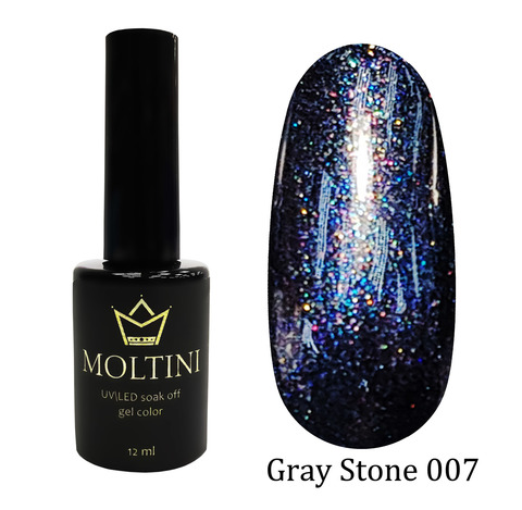 Гель-лак Moltini Gray Stone 007, 12 ml