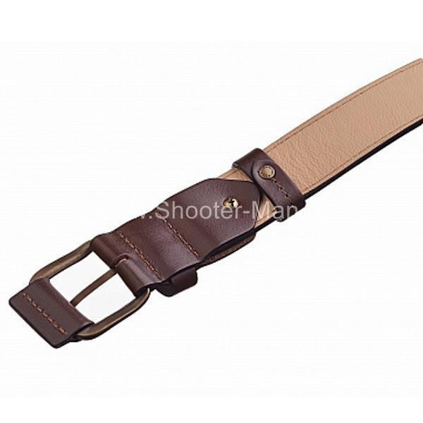 Кожаный ремень брючный с подкладом Тайга 40 мм Стич Профи 1601 фото