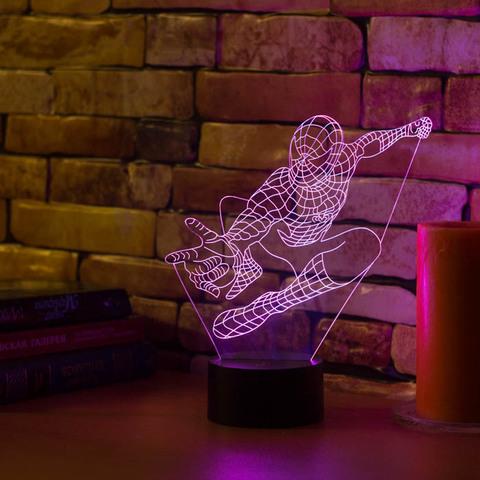 3D лампа Человек паук #2