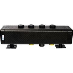 Стальной распределительный коллектор STOUT SDG-0016-005004 4 отопительных контура. В теплоизоляции DN 32