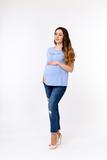 Футболка для беременных 10361 голубой