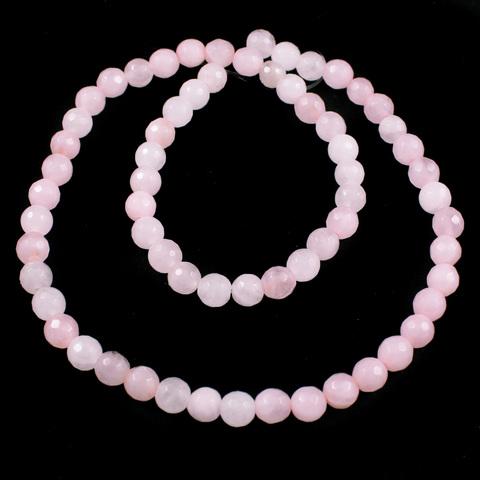 Кварц розовый бусины шар граненый 6 мм