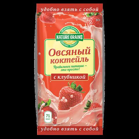 Овсяный коктейль с клубникой, Компас Здоровья, 25 г