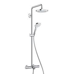 Душевая система с термостатом и изливом внешнего монтажа 155,6 см с верхней лейкой 18,7х18,7 см 2 режима Hansgrohe Croma Select E Showerpipe 27352400 фото