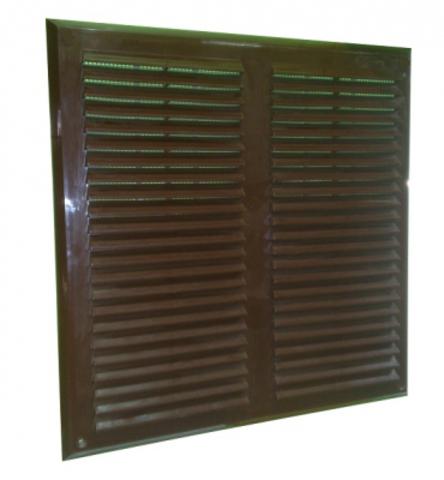Решетка накладная 350х350 мм коричневая Maxpol 350МХР