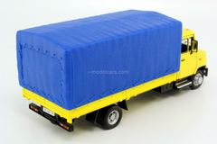 ZIL-5301 Bychok (Goby) flatbed truck yellow-blue Bauer Autobahn 1:43