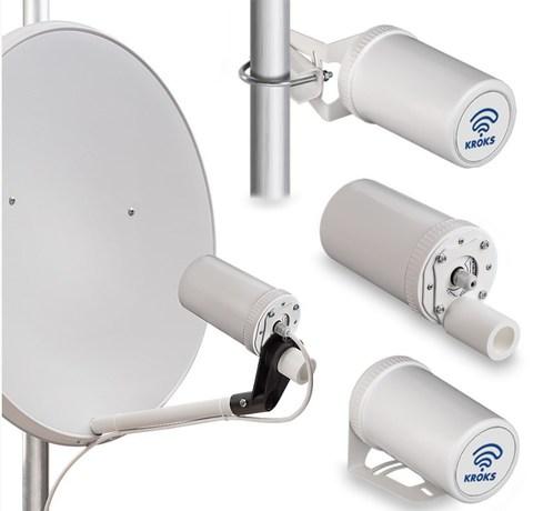 Роутер Kroks AP-221M3Y-Pot с PCI модемом YUGA CLM920, встроенный в антенну