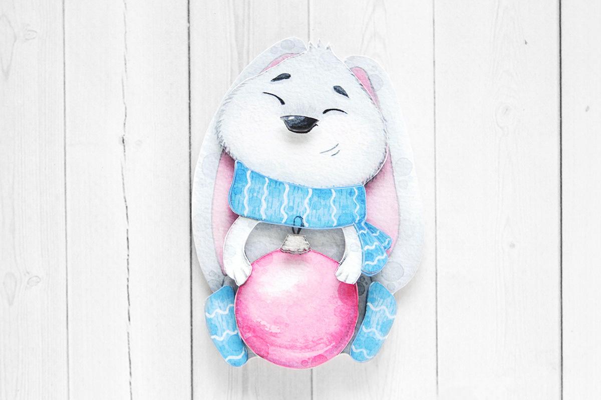 Зайчонок, готовая работа