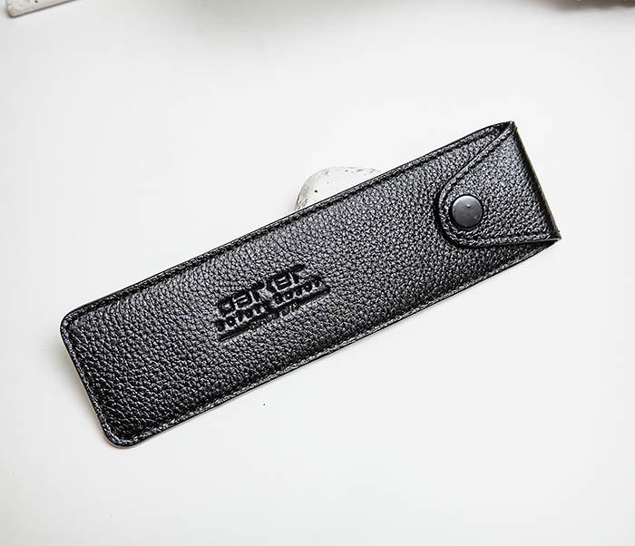 RAZ501-1 Черный кожаный чехол для опасной бритвы «PARKER» фото 02