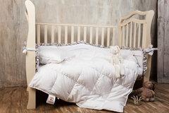 Элитное одеяло детское 100×150 и подушка 40×60 Baby Snow от German Grass