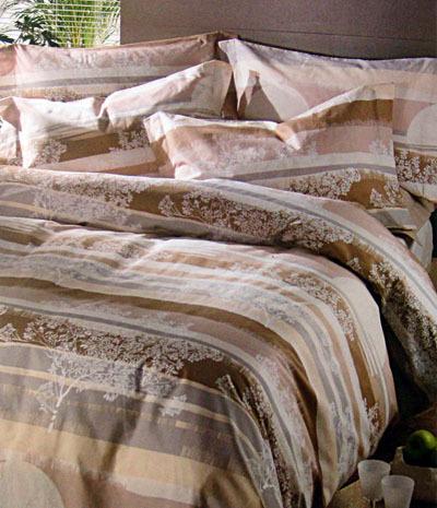 Постельное белье 2 спальное евро Caleffi Aurora бисквит