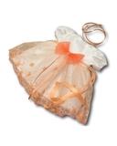 Платье праздничное - Белый / персик. Одежда для кукол, пупсов и мягких игрушек.