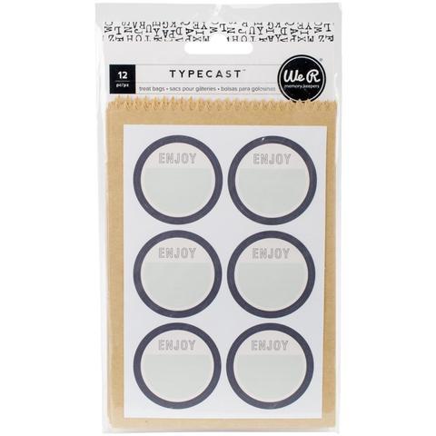 Набор крафт-пакетиков со стикерами We R Typecast Treat Bags