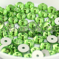 Заказать пришивные стразы с одним отверстием Peridot зеленые