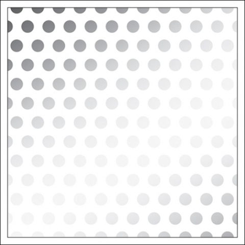 Веллум (калька)  30 х30 см -DIY Shop 3 Vellum -Silver Foil Dots