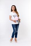 Футболка для беременных 10525 принт Love