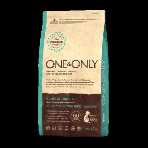 One&Only Turkey & Rice Adult All Breeds Сухой корм для взрослых собак всех пород Индейка с рисом низкозерновой