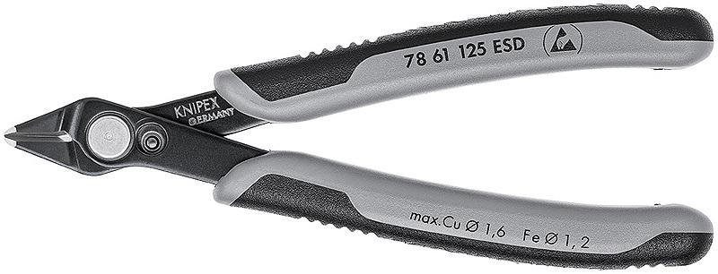 Бокорезы для электроники антистатические Knipex KN-7861125ESD