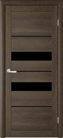 Дверь TrendDoors TDT-4, стекло чёрный акрилат, цвет дуб оксфорд, остекленная