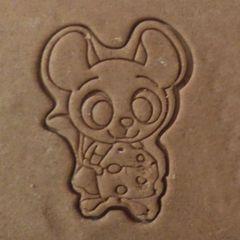 Мышка №9 форма для пряника, мастики, печенья