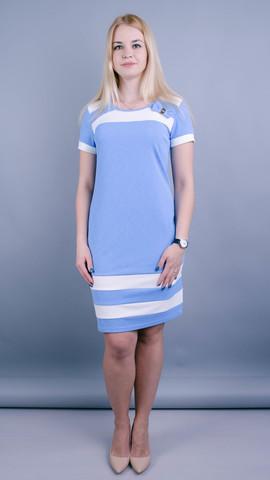 Шанель лето. Платья больших размеров. Голубой.