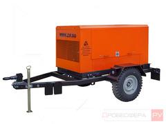 Дизельный компрессор 12000 л/мин 10 бар на шасси