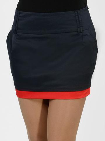 2045 юбка темно-синяя