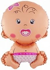 К Малышка девочка, Розовый, 28
