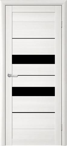 Дверь TrendDoors TDT-4, стекло чёрный акрилат, цвет лиственница белая, остекленная