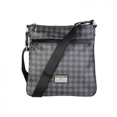 Мужская сумка-планшет Versace V1969  NEWCROSS_SQUARE-NERO-GRIGIO