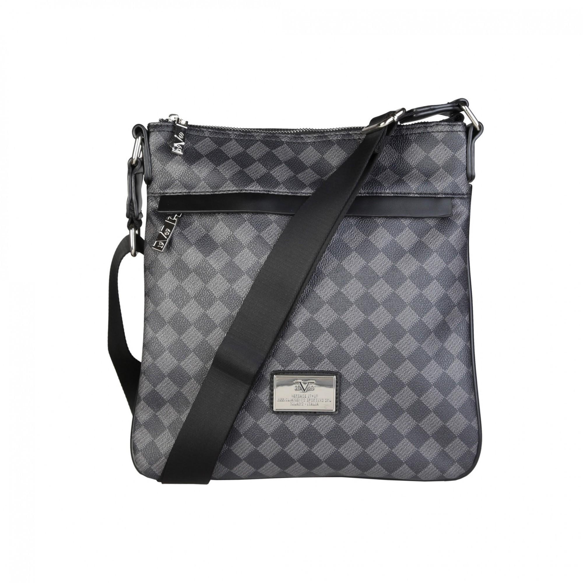 Мужская сумка-планшет Versace V1969 NEWCROSS SQUARE-NERO-GRIGIO ... 0e46a72f217b0