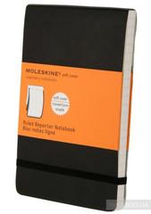 Moleskine Ruled Soft Reporter Notebook Pocket