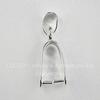 Держатель кулона - петелька 19х8х5 мм (цвет - серебро)
