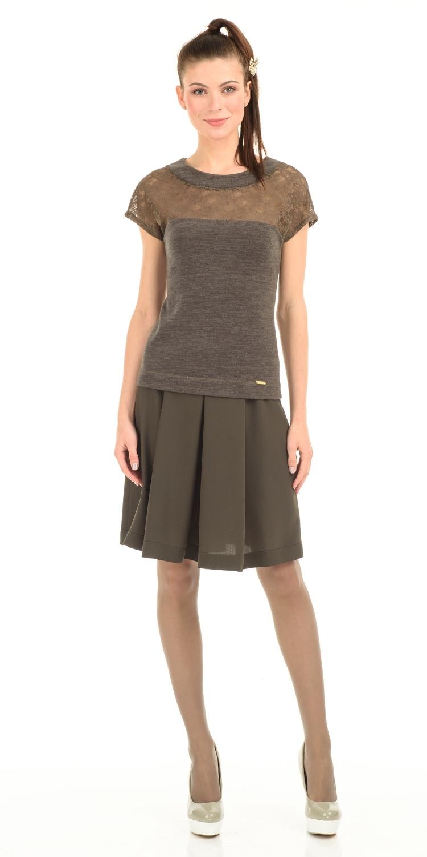 Юбка Б008-375 - Женственная юбка в складку призвана, чтобы ежедневно создавать романтичный и смелый образ . Длина и крой отлично подойдут для всех типов фигуры.