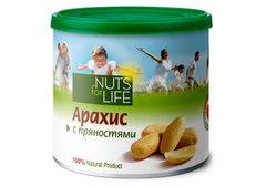 Арахис с пряностями Nuts for Life, 115г