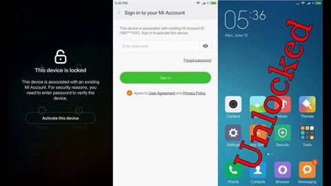 Удаление MI аккаунта Xiaomi
