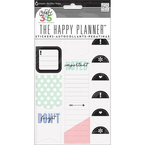 Блокнот со стикерами для ежедневника Create 365 Planner Stickers- Don't Forget