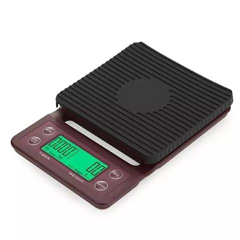 Весы для кофе с таймером, точность 0,1 гр., максимальный вес 5000 гр.