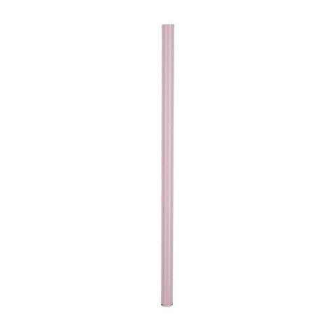 Трубочка стеклянная прямая 20 см розовая