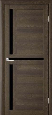 Дверь TrendDoors TDT-5, стекло чёрный акрилат, цвет дуб оксфорд, остекленная