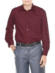 616D-1 рубашка для мальчиков, бордовая