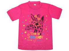 DLM11-54 футболка детская, малиновая